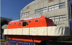 IHIの救命艇、津波が想定される火力発電所に配備 画像
