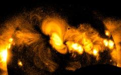 JAXAなど、太陽観測衛星「ひので」による部分日食の画像を公開 画像