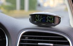 【カーエレ最前線】ワイヤレス タイヤ空気圧センサーで異変を察知 画像
