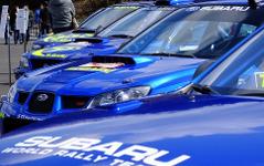 【スバルファンミーティング】歴代WRCスバルブルー集結、新井敏弘駆るインプレッサ98に度肝抜く 画像