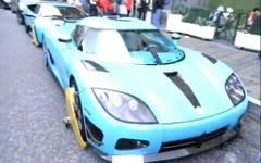 [動画]カタール王族のスーパーカー、2台が駐車違反で拘束 画像