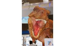 【CEATEC 10】マルチタッチで動かせる恐竜ロボット 画像