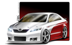 【SEMA10】トヨタ カムリ NASCAR仕様…680psのモンスター 画像