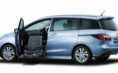マツダ プレマシー 福祉車両、助手席リフトの使い勝手を向上 画像