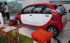 三菱益子社長、EVからの電源供給装置「既販EVも使えるよう工夫する」 画像