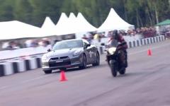 日産 GT-R、スズキ ハヤブサ と加速競争[動画] 画像