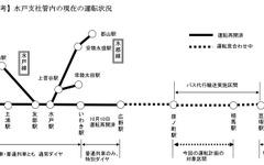 JR常磐線 警戒区域外北側の一部で運転再開へ 画像