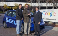 ホンダフィットEV、グーグルに納車 画像