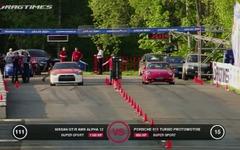 日産 GT-R とポルシェ 911ターボ…1000psのモンスターが加速競争[動画] 画像