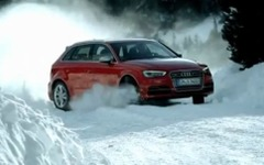 アウディ S3 新型に5ドアのスポーツバック…雪上を駆ける[動画] 画像