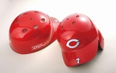 広島カープ、マツダなどが開発した新色「ソウルレッド」をヘルメットに採用 画像