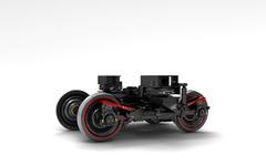 川崎重工、台車フレームにCFRP採用した世界初の鉄道車両台車を開発 画像