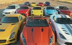 日産 GT-R など世界の12台、豪華な加速競争[動画] 画像