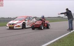 ホンダの世界最速芝刈り機、シビック BTCC レーサーと対決[動画] 画像