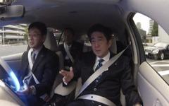 安倍総理、自動運転技術の実験車両に試乗 画像