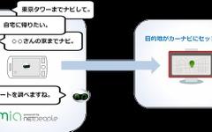 イナゴ、音声対話アプリ ミア にカーナビ連携機能を追加 画像