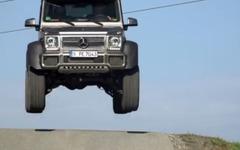 メルセデス Gクラス に異次元の6輪車…G63 AMG と比較テスト[動画] 画像