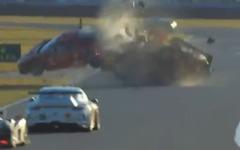 フェラーリとコルベット、恐怖の大クラッシュ…米国スポーツカー選手権開幕戦[動画] 画像