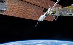 JAXA、地上からの操作で「きぼう」日本実験棟のロボットアーム運用を実施 画像