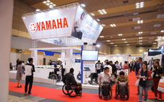 【バリアフリー14】ヤマハ、電動アシスト車いすの体験試乗で快適性と安全性を訴求 画像