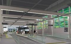 富山駅高架下の停留場は「富山駅」に…路面電車の南北接続事業 画像