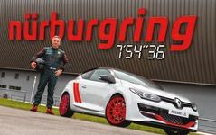 ルノー メガーヌ R.S. 「275トロフィー」、ニュル市販FF車最速に…7分54秒36 画像