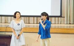月にポカリ届けるプロジェクト、山崎直子宇宙飛行士が伝える宇宙の暮らし…小学校で出張授業 画像