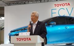 【トヨタ FCVセダン 発表】加藤副社長、FCV主要ユニットは「内製にこだわって自社開発」 画像