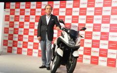 【ヤマハ トリシティ 発表】柳社長、3輪バイクを2017年までに3~4機種投入へ 画像