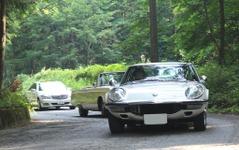 河口湖でクラシックカーのチャリティイベント…真夏でも40台以上集まる 画像