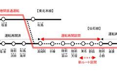 仙石線、来年6月までに全線再開へ…仙石東北ラインも運転開始 画像