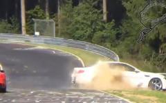 "BMW M5、世界最速の""ニュルブルクリンクタクシー""…2 度目の事故[動画] 画像"