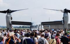 横田基地日米友好祭、オスプレイの機内や操縦席も公開 画像