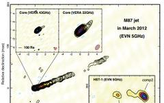 高エネルギーガンマ線フレアに伴う電波増光を検出…M87で発生 画像