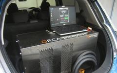 """【EVEX2014】EV自体を急速充電器に…""""電欠レスキュー""""を提案するマイダス・ラボ 画像"""