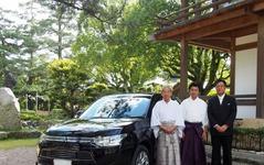 三菱自動車、出雲大社に アウトランダーPHEV を奉納 画像