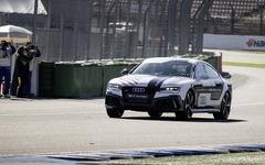 アウディ RS7 自動運転車、サーキット高速デモ走行に成功 画像