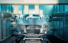 BMWジャパンディーラー、整備工場で水性塗料を導入 画像