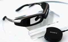 """""""攻めのソニー""""…こんどは「透過式メガネ型端末」試作モデルを公開 画像"""