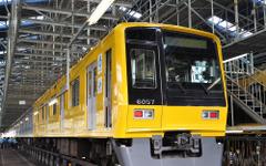 西武「黄色い6000系」ラッピング作業を公開…4月18日から営業運転 画像