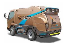 【NEW環境展15】モリタ、回転式電動塵芥収集車 E-SVN を参考出品 画像