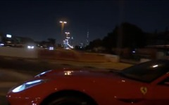 フェラーリ F12 ベルリネッタ、公道レースの末に事故…中東ドバイ[動画] 画像