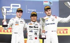 F1ハンガリーGP併催の「GP2」第6大会、レース2で松下信治が初優勝 画像