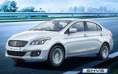 スズキ シアズ にスマートハイブリッド追加…インド最高燃費の28.09km/L 画像