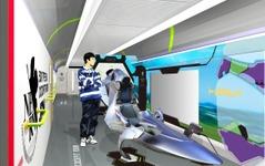 山陽新幹線の500系「エヴァ」、車内に実物大コックピット設置 画像