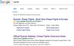 ライアンエアー、オンライン広告の透明性とユーザー利益の保護でGoogleに訴え 画像