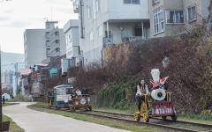 北海道各地のトロッコが「大集合」…小樽の廃線跡走る 画像