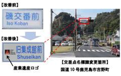 交差点標識に観光地名称を表示、わかりやすい案内に向け改善を推進 画像