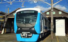 静岡鉄道、新型A3000形A3001公開…フラットでシンプルなステンレス車体に 画像