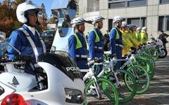冬の自転車隊「BEEMS」、あの制服で足立区4警察署と正しい乗り方アピール 画像